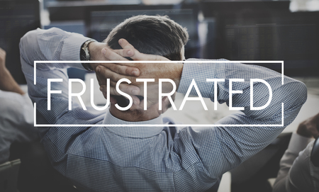 drawback: Depression Frustrated Failure Problems Business Concept