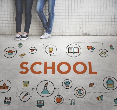 urban culture: Training School Development Literacy Wisdom Concept Stock Photo