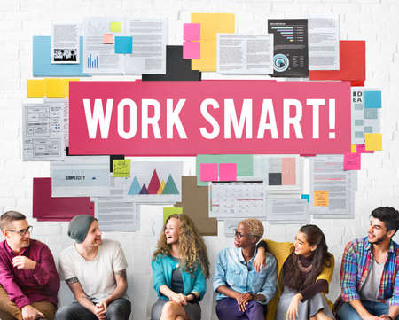 effectively: Work Smart Effectively Creative Thinking Concept