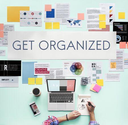 Get Organized Management Planning Concept