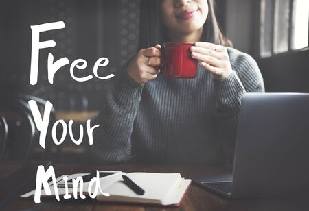freedom of thought: Free Your Mind Positive Relaxation Chill Concept