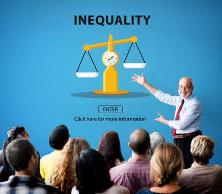 prejudice: Inequality Imbalance Victims Prejudice Bias Concept