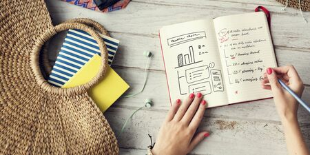 journal: Lady Planning Journal Summer Holiday Concept