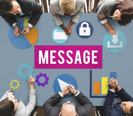 Office message concept Imagens