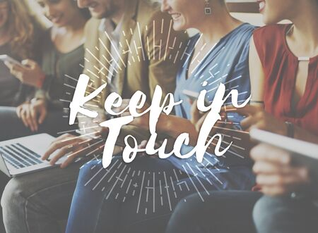 keep in touch: Keep in Touch Communication Connection Networking Concept Stock Photo