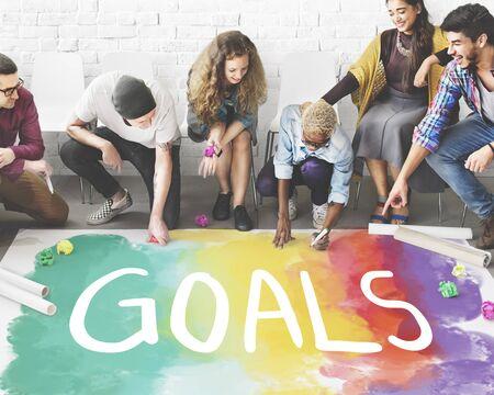 desire: Desire Inspire Goals Follow Your Dreams Concept Stock Photo