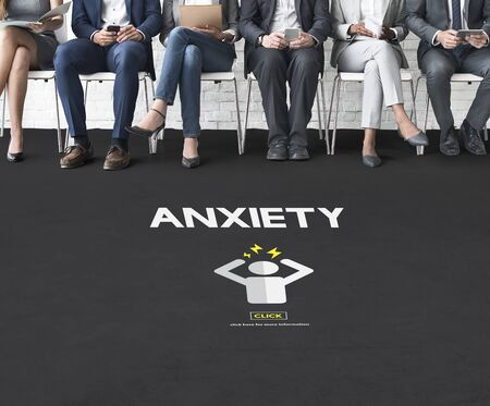unease: Anxiety Angst Disorder Stress Tension Concept Stock Photo