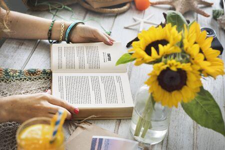 novel: Lady Reading Book Novel Concept