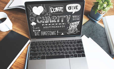 give charity: Give Charity Donation Graphic Concept