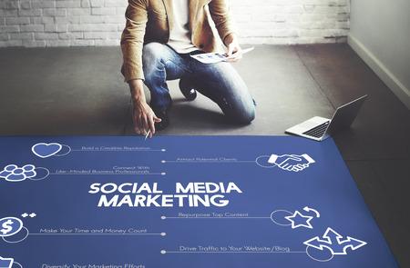 Concept de marketing des médias sociaux