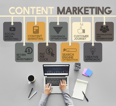 Content Marketing Blog Marketing Advertise Concept Stock Photo