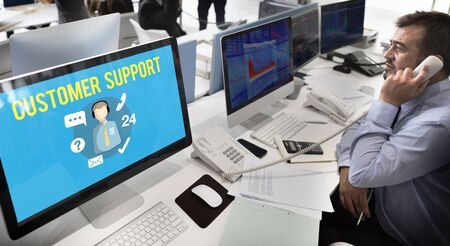 customer support: Customer Support Contact Center Advice Concept