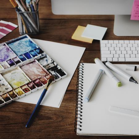 determine: Ideas Creative Occupation Design Studio Drawing Startup Concept