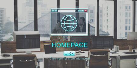 Homepage Website Webpage Internet Concept