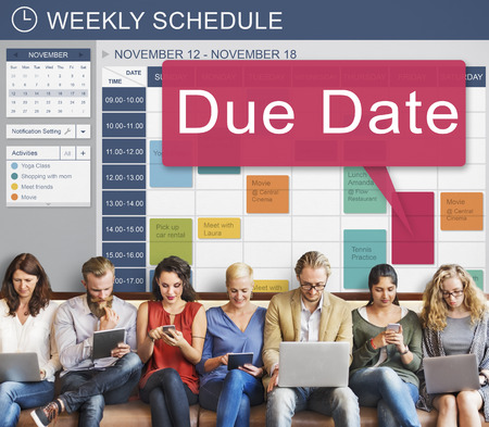 due date: Due Date Deadline Schedule Calender Reminder To Do Concept