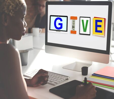 generosity: Give Donations Aid Charity Design Word Concept Stock Photo