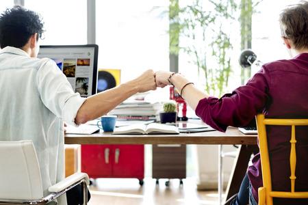 Fist Bump Collega's Collaboration Teamwork Concept