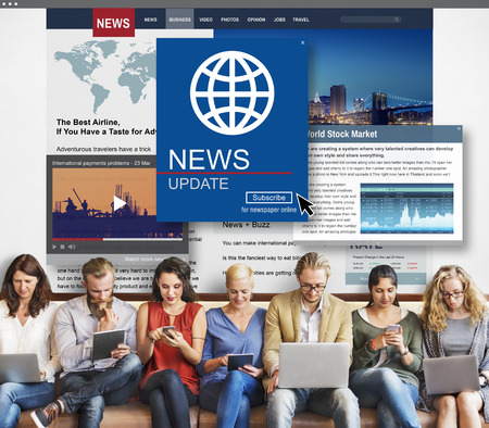newscast: News Update Journalism Headline Media Concept