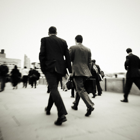 Business People Walking Motion City Concept Stok Fotoğraf