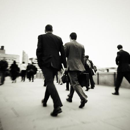 mundane: Business People Walking Motion City Concept Stock Photo