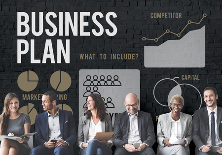 People with business plan concept Stock Photo
