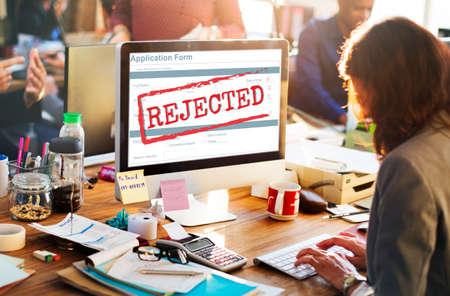 Declined Rejected Disagreement Rejection Concept Stock fotó