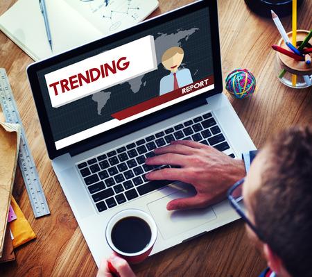 news update: Update Trending Breaking News Report Information Concept Stock Photo