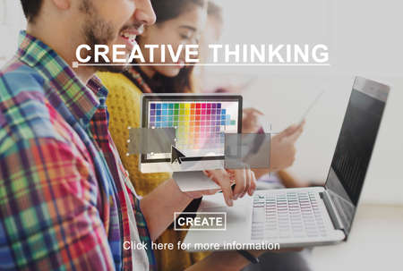 Creative Process Ideas Graphic Design Layout Concept Stock Photo