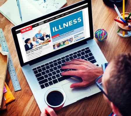 healthcare and medicine: Illness Healthcare Medicine Sickness Concept