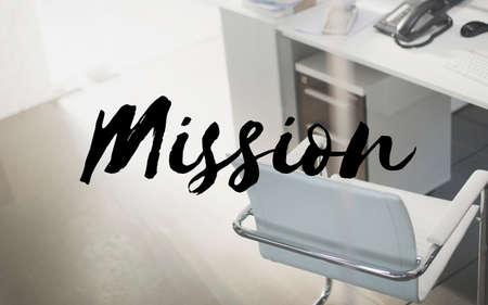 aspiration: Mission Aim Aspiration Core Values Inspiration Concept Stock Photo