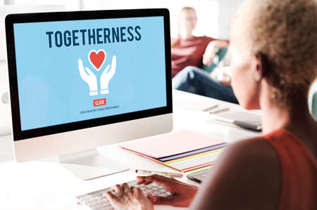 mingle: Togetherness Unity Design Icon Heart Concept