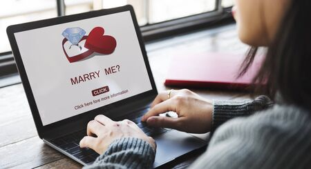 marry: Romantic Gifts Romance Marry me Proposal Concept