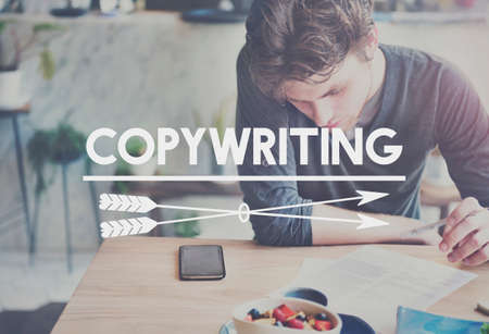 copywriting: Copywriting Skills Working Writing Concept Stock Photo
