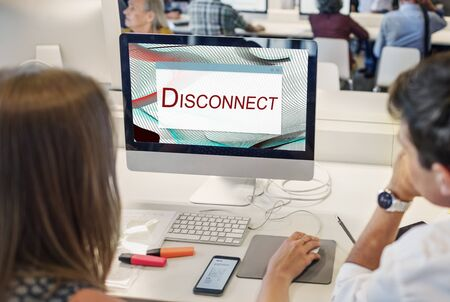disconnect: Error Halted System Disconnect Caution Concept