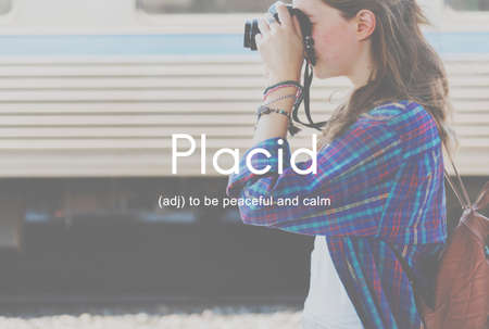 placid: Nirvana Placid Peaceful Tranquility Serene Rest Concept