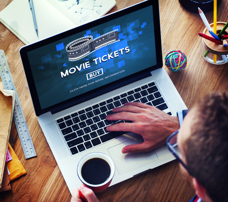 entertainment concept: Movie Tickets Buying Entertainment Concept