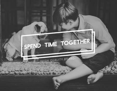 spend: Pet Spend Time Together Concept