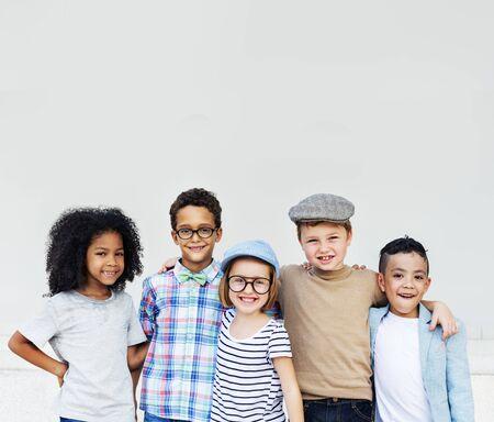 Child Friends Elementary Age Variation Offspring Concept Reklamní fotografie