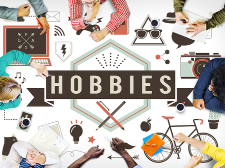 Hobbies Activity Amusement Freetime Interest Concept 免版税图像