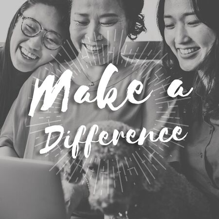 difference: Make Difference Change Effect Ideas Impact Help Concept Stock Photo