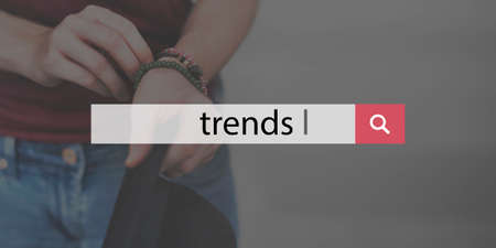 chic: Trends Style Fashionable Chic Trending Modern Concept Stock Photo