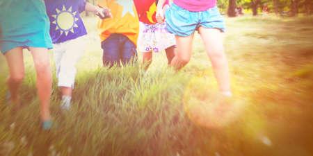children at play: Preschooler Children Play Recreation Friends Concept