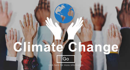 warming: Climate Change Global Warming Environmental Conservation Concept Stock Photo