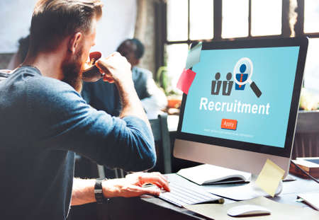manpower: Recruitment Hiring Manpower Headhunting Strategy Concept Stock Photo
