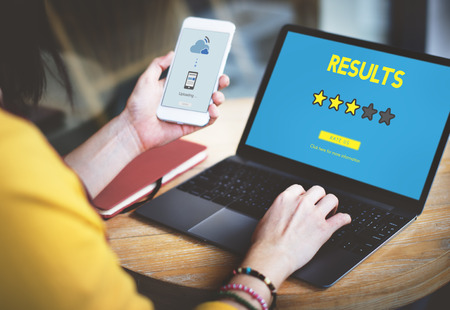 electronic voting: Customre Feedback Comment Vote Review Results Concept