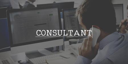 adviser: Consultant Adviser Service Information Business Concept Stock Photo