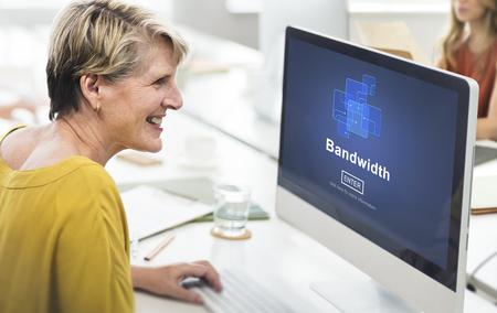 bandwidth: Bandwidth Broadband Connection Data Information Internet Concept