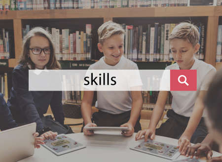 expertise: Skills Ability Expertise Talent Professional Proficiency Concept Stock Photo