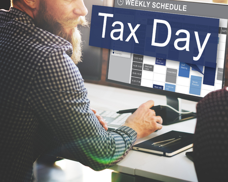 taxation: Tax Day Taxation Financial Money Money Concept Stock Photo