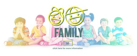 sibling: Family Parents Sibling Offspring Group Love Concept Stock Photo